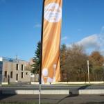 Imprim'Services imprime des drapeaux, beach line, Flag pour l'intérieur et l'extérieur